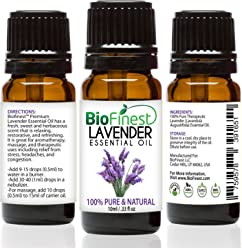 BioFinest Lavender Oil - 100% Pure Lavender Essential Oil - Therapeutic Grade - Bulgaria Premium Quality - Best For Aromatherapy, Diffuser, Massage, Anxiety & Stress Relief - FREE E-Book (10ml)