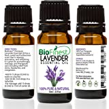 Biofinest Lavender Essential Oil - 100% Pure Undiluted - Therapeutic Grade - Bulgaria Quality - Best For Aromatherapy & Massage, Anxiety & Stress Relief - Free Glass Dropper & E-Book (10Ml)