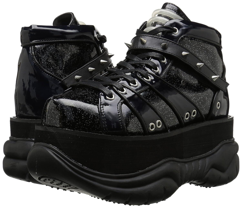 Demonia Neptune-100 Ankle Boot Silver/Vegan B00VG0W2F4 4 M US Black Glitter Silver/Vegan Boot Leather 5c1206