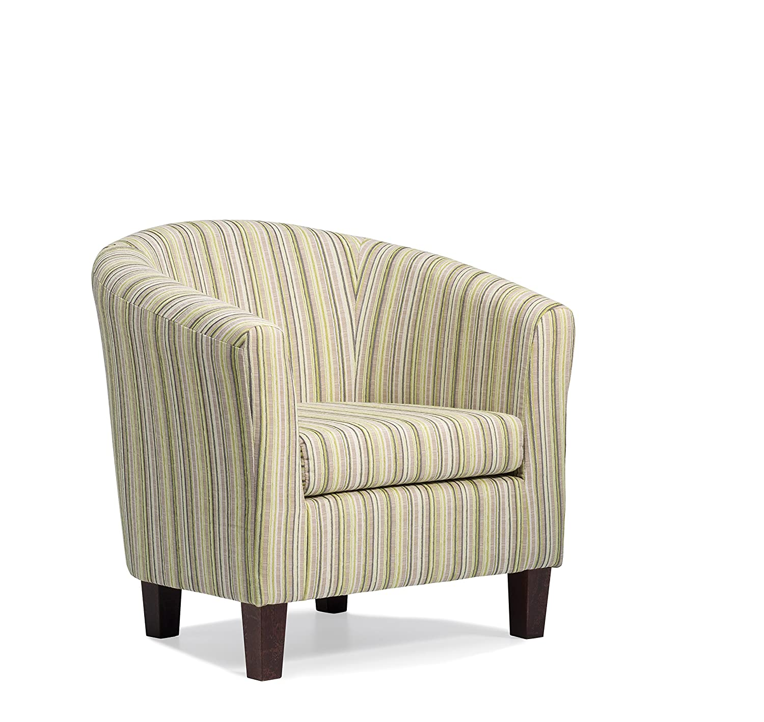 Dorset Stripe Tub Chair - Available in 4 Colours (Lime) Harmony Furnishings