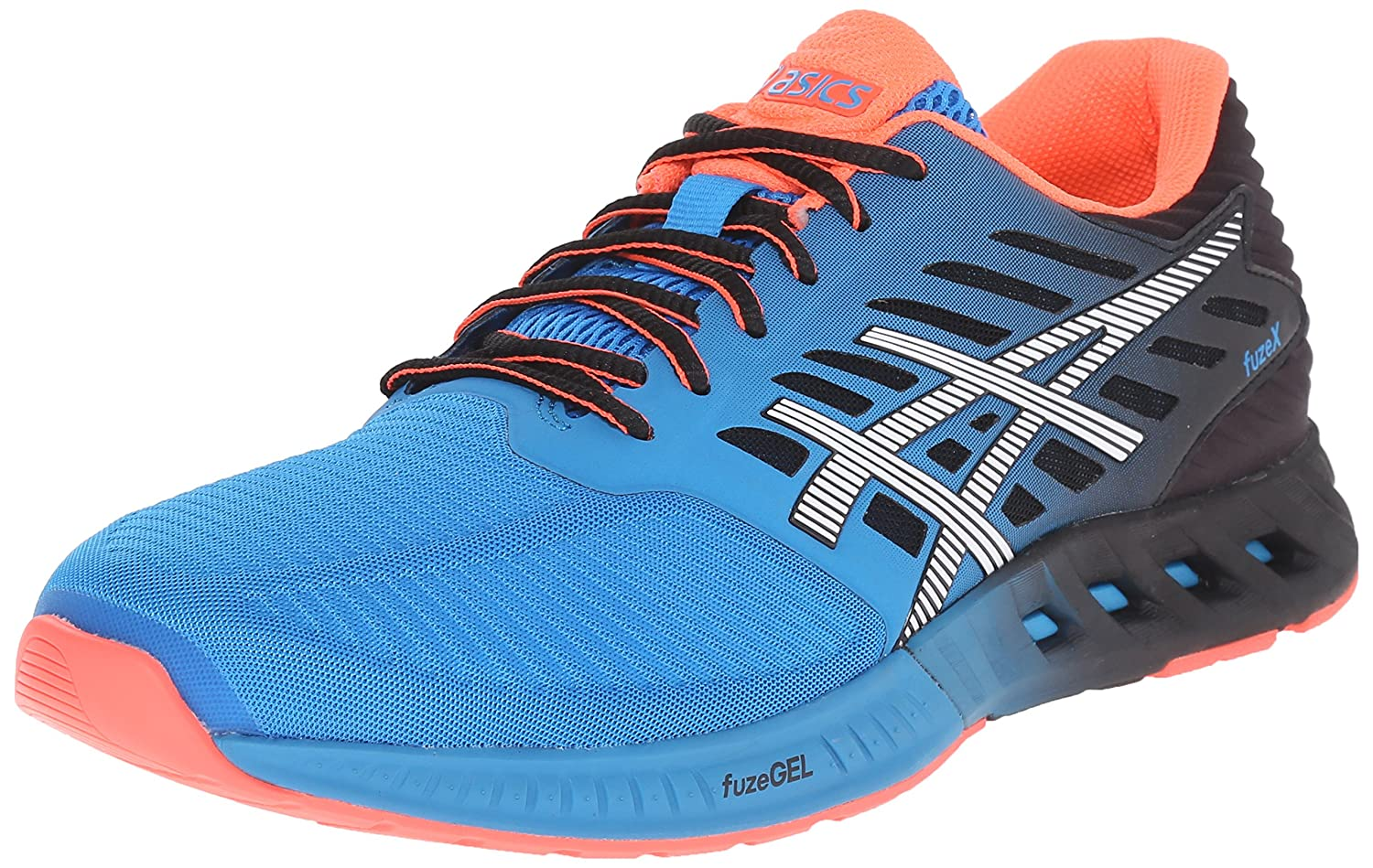 ASICS Men's fuzeX Running Shoe B00YB1HEN0 9.5 D(M) US|Methyl Blue/White/Black