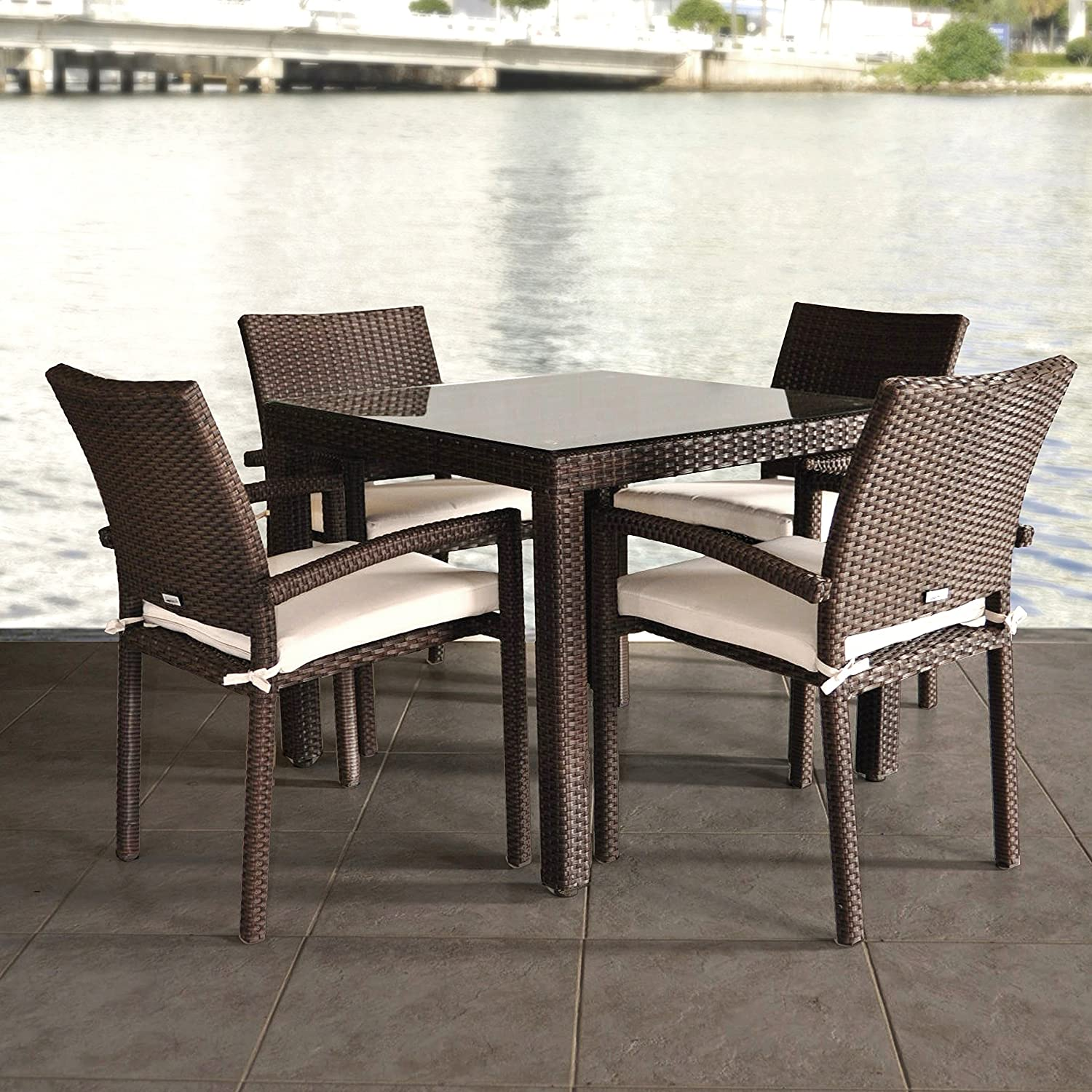 Amazon.com: Atlantic Liberty 5-Piece Dining Set: Garden & Outdoor