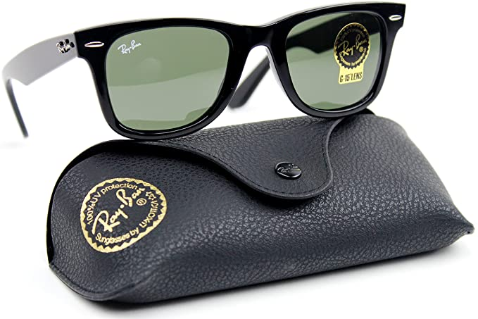 42cb64c32c8b0 Image Unavailable. Image not available for. Colour  Ray-Ban RB2140 901 Wayfarer  Black Frame   Crystal Green Lens 47mm