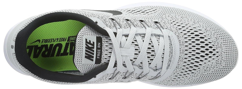 les hommes / femmes nike libre rn, blanc / couleur noir, la couleur / du platine très accrocheuse mode versatile chaussures 72c757