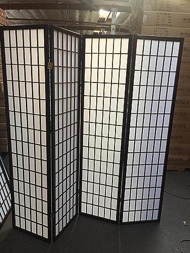 SQUARE FURNITURE 3 OR 4 Panel Wooden Screen – Espresso 04