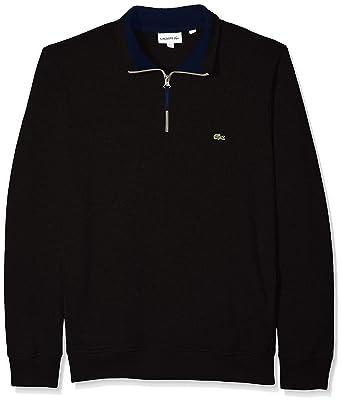 f8be24126 Lacoste Men s Long Sleeve Semi Fancy Front Zip Sweatshirt at Amazon ...