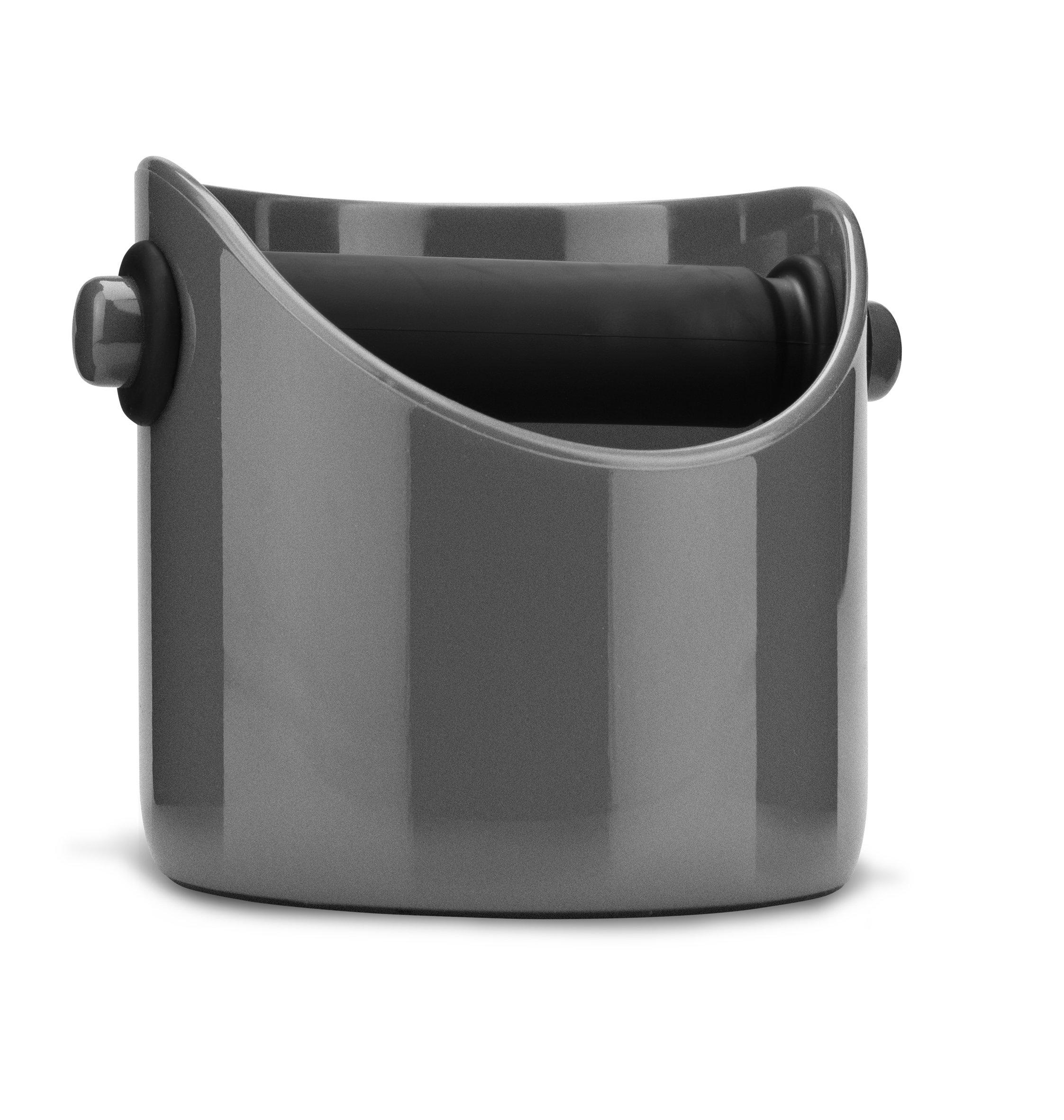 Dreamfarm Grindenstein - Coffee Grind Knock Box and Espresso Dump Bin (Silver)