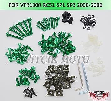 Steel Fairing Bodywork Screws Nuts For Honda VTR1000 RVT1000R RC51 2000-2006