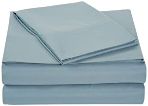 AmazonBasics Microfiber Sheet Set - Twin, Spa Blue