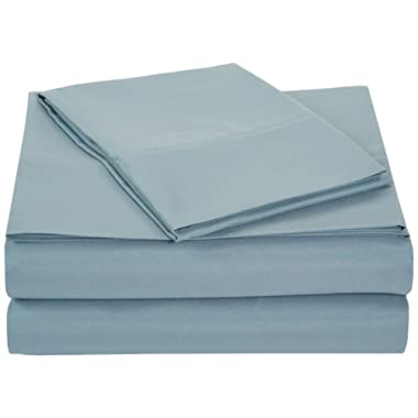 AmazonBasics Microfiber Sheet Set - Twin, Spa Blue, Ultra-Soft, Breathable