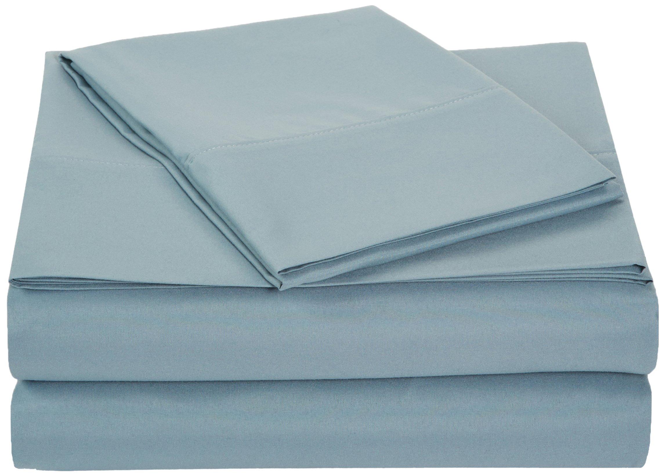 AmazonBasics Microfiber Sheet Set - Twin, Spa Blue