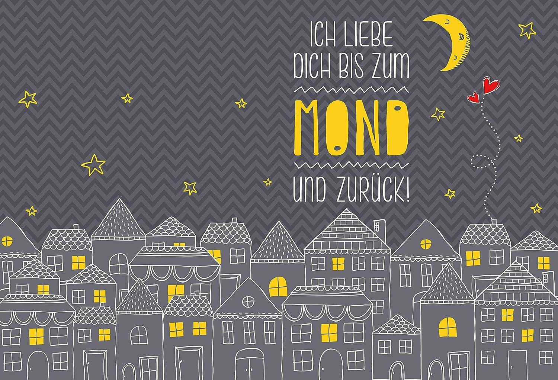 Einzigartig Ich Liebe Dich Bis Zum Mond Galerie Von Conceptreview: Notizblock-set