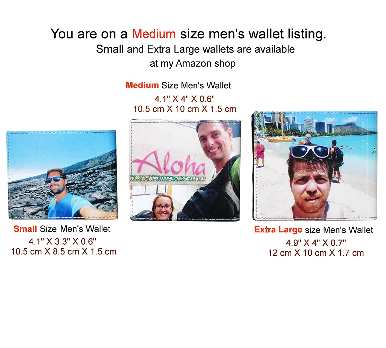 Medium Custom Wallet For Men Using Pictures From You Images Of Me