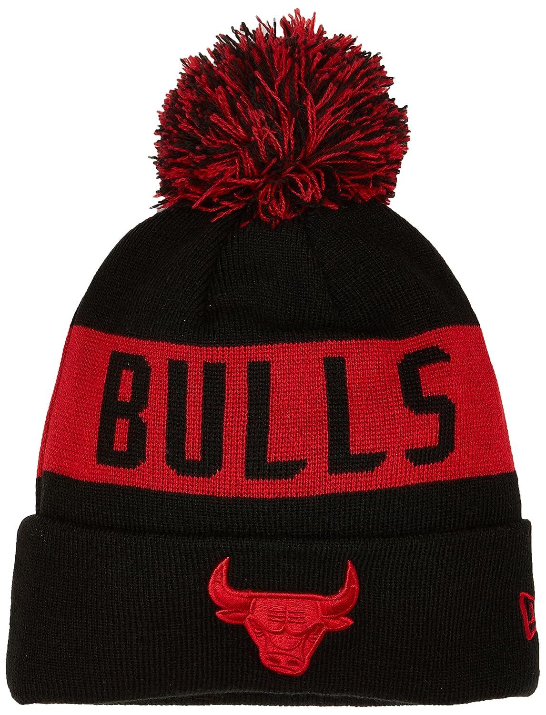 New Era Chicago Bulls Bobble Knit, Cuffia Uomo, Black, Taglia Unica 80524578
