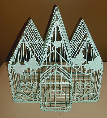 Amazon Com Decorative Hanging Bird Cage Upcycled Birdcage Ocean