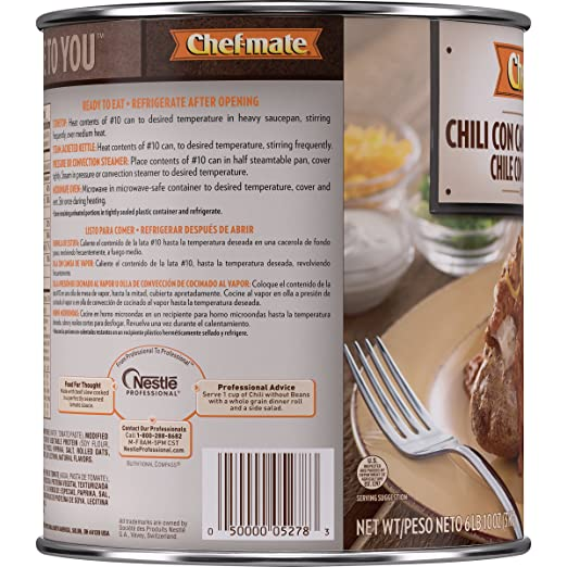 Amazon.com: Chef-mate Beef Chili, Canned Chile With Meat, No ...