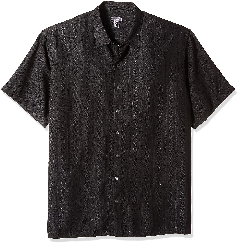 Van Heusen Men's Big And Tall Poly Rayon Short Sleeve Button Down Shirt by Van+Heusen