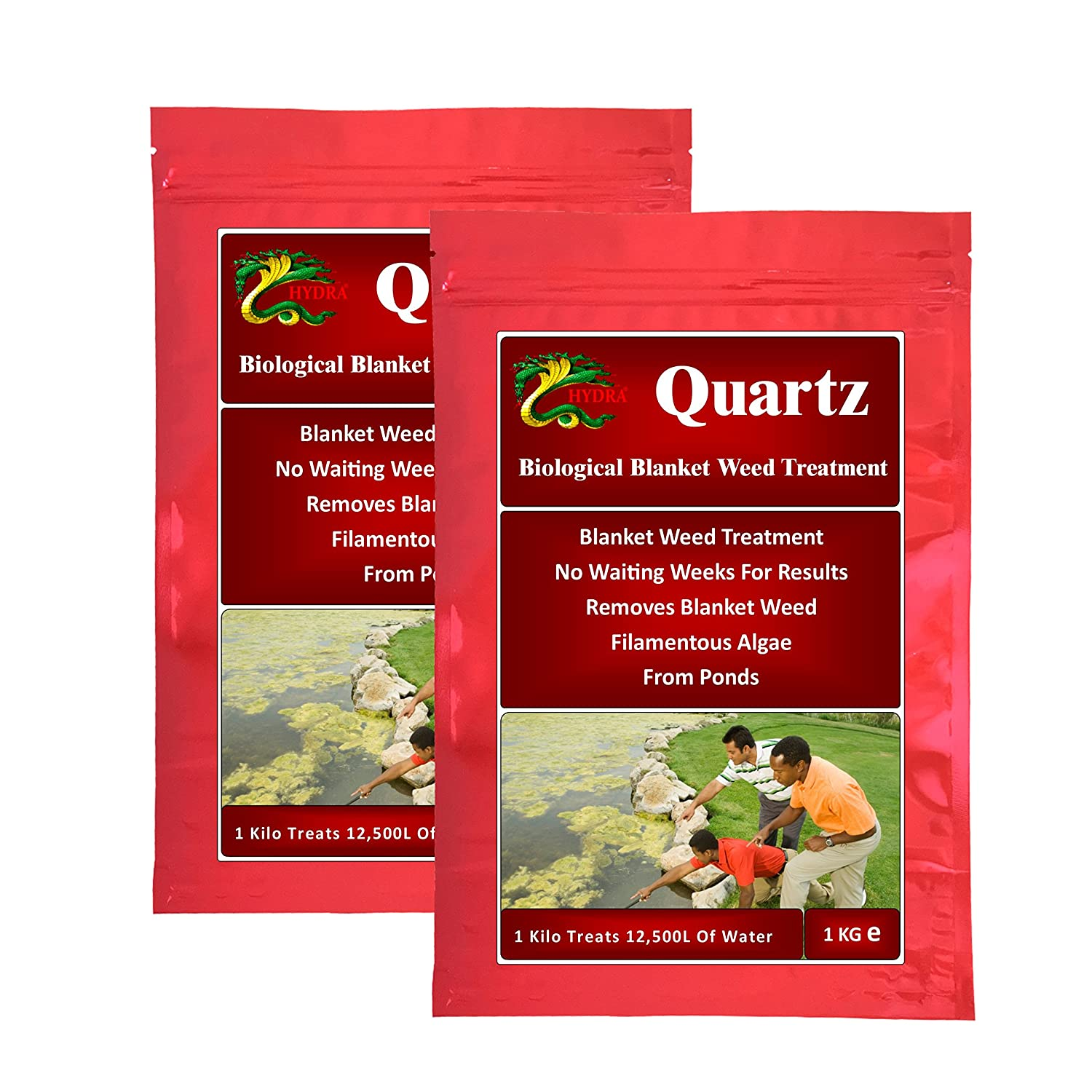 HYDRA 100% Biological Blanketweed Treatment QUARTZ 1Kg Treats Up To 12,500L Hydra International Ltd