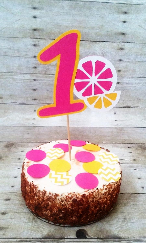 Amazon Com Lemonade Cake Topper Party Supplies Cake Decorations