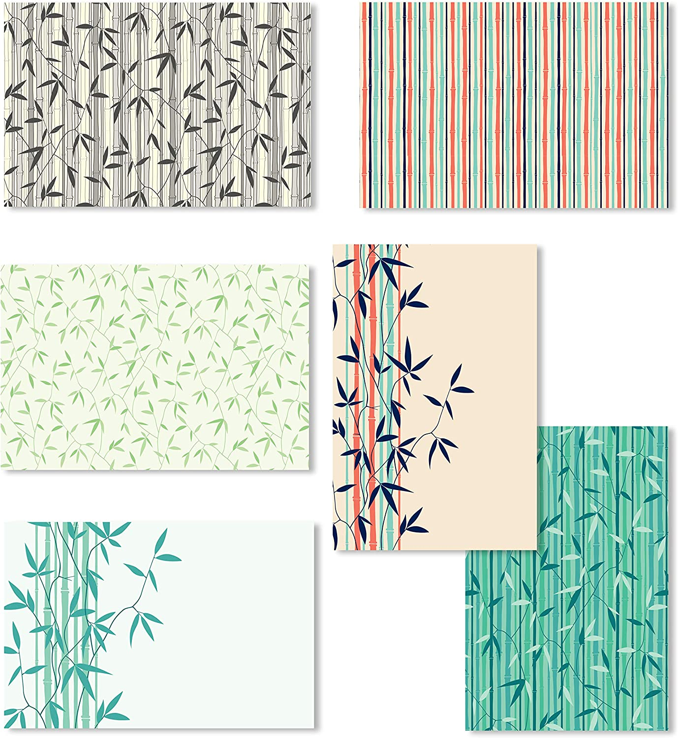 Blank Greeting Cards, 4x6 Blank Note Cards, Blank Greeting Cards Assortment Bulk, Blank Note Cards with Envelopes, All Occasion Blank Greeting Cards, Blank Bamboo Note Cards - 4 x 6 Inches, 36 Pack