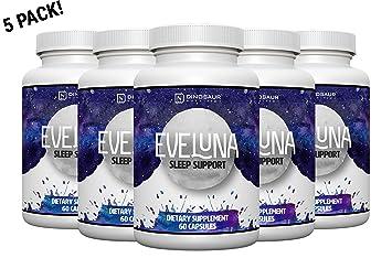 Eveluna - Natural Sleep Aid Supplement with Melatonin, Valerian, Tryptophan, 5-HTP