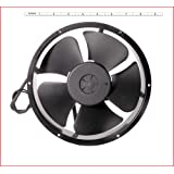 "AC Round Medium Kitchen Exhaust Fan SIZE : 8.70"" inches(22cm-Diameter x 6cm- Thick) , Material : Aluminium Die-cast, Color : Black, COMPATIBLE : For the room area of Length 12feet X Width 10feet X Height 10feet. MAA KU"