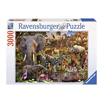 Ravensburger African Animals 3000 Piece Jigsaw Puzzle for Adults – Softclick Technology Means Pieces Fit Together Perfectly: Toys & Games
