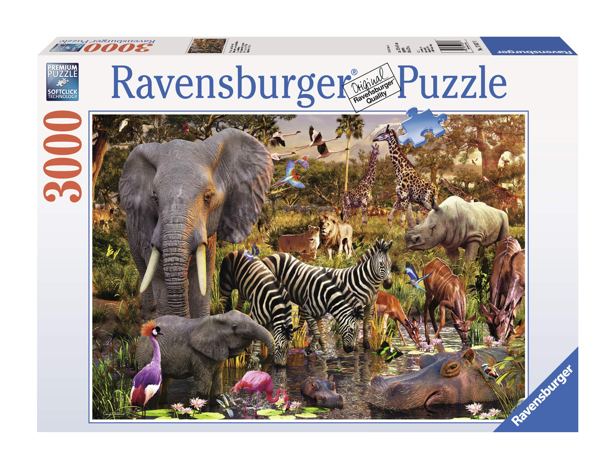 Ravensburger African Animals 3000 Piece Jigsaw Puzzle for Adults - Softclick Technology Means Pieces Fit Together Perfectly by Ravensburger