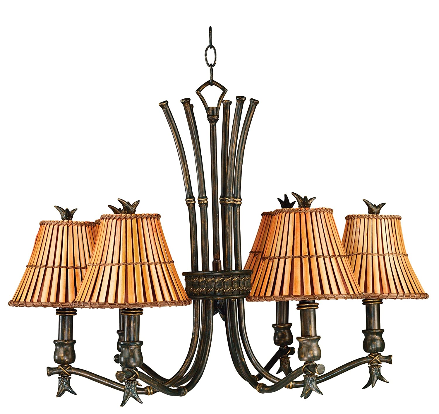 Kenroy Home BH Kwai 6 Light Chandelier Bronze Heritage