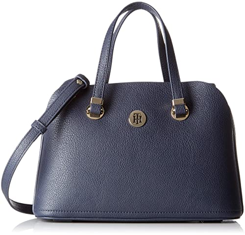 Tommy Hilfiger - Th Core Med Satchel, cartera Mujer, Azul (Tommy Navy)