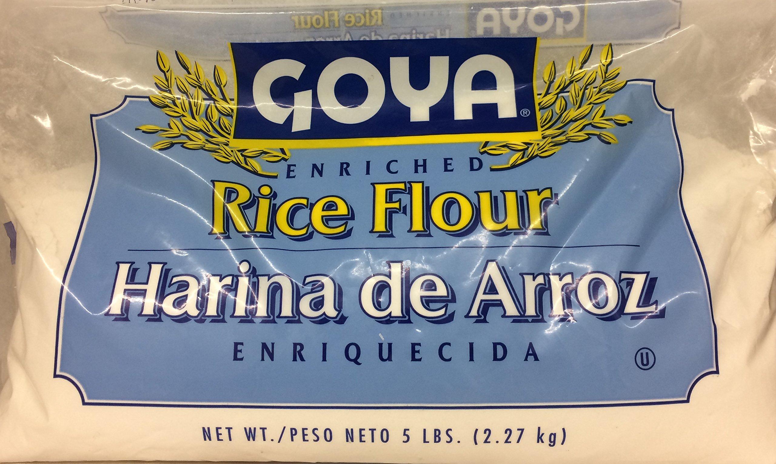 Goya Enriched Rice Flour Harina De Arroz 80 Oz. Pack Of 3.
