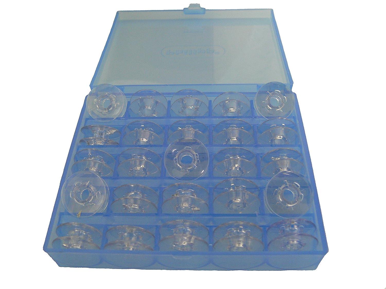 25 Spulen für Pfaff und Gritzner Nähmaschinen Aufbewahrungsbox Spulen