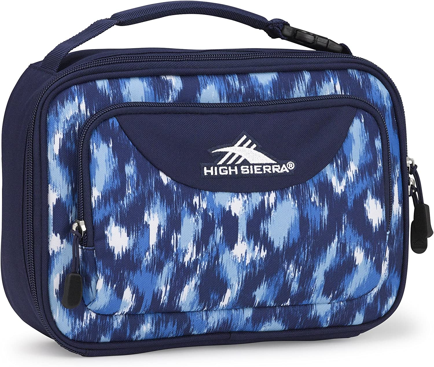 High Sierra Single Compartment Lunch Bag, One Size, Island Ikat/True Navy