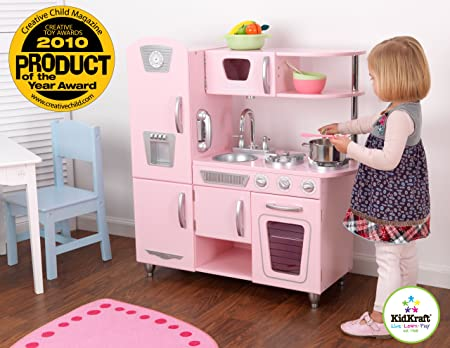 Küche retro küche kaufen : KidKraft 53179 - Rosa Retroküche: Amazon.de: Spielzeug