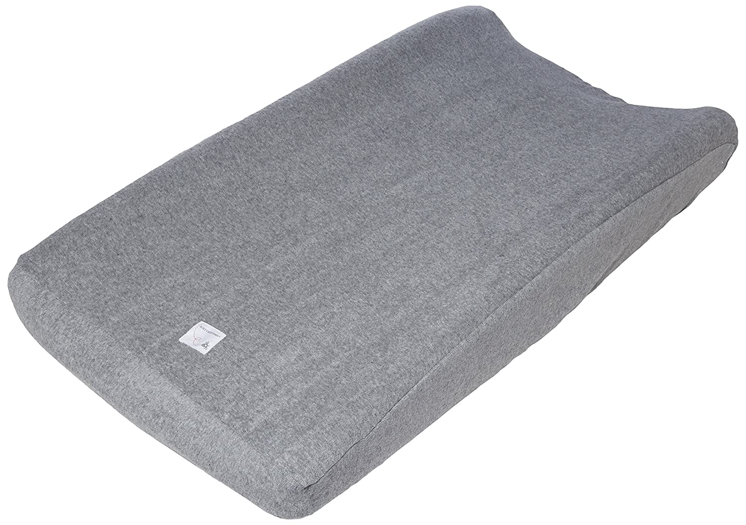 "Burt's Bees Baby Knit Terry Changing Pad Cover - 100% Organic for Standard 16"" x 32"" Changing Pad, Heather Grey Burt's Bees Baby HM10013-HTG-OS"