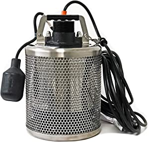 Site Drainer SD 400T, 1/2 HP, All Stainless Steel, Non Clogging, Electric Submersible Dewatering and Utility Pump
