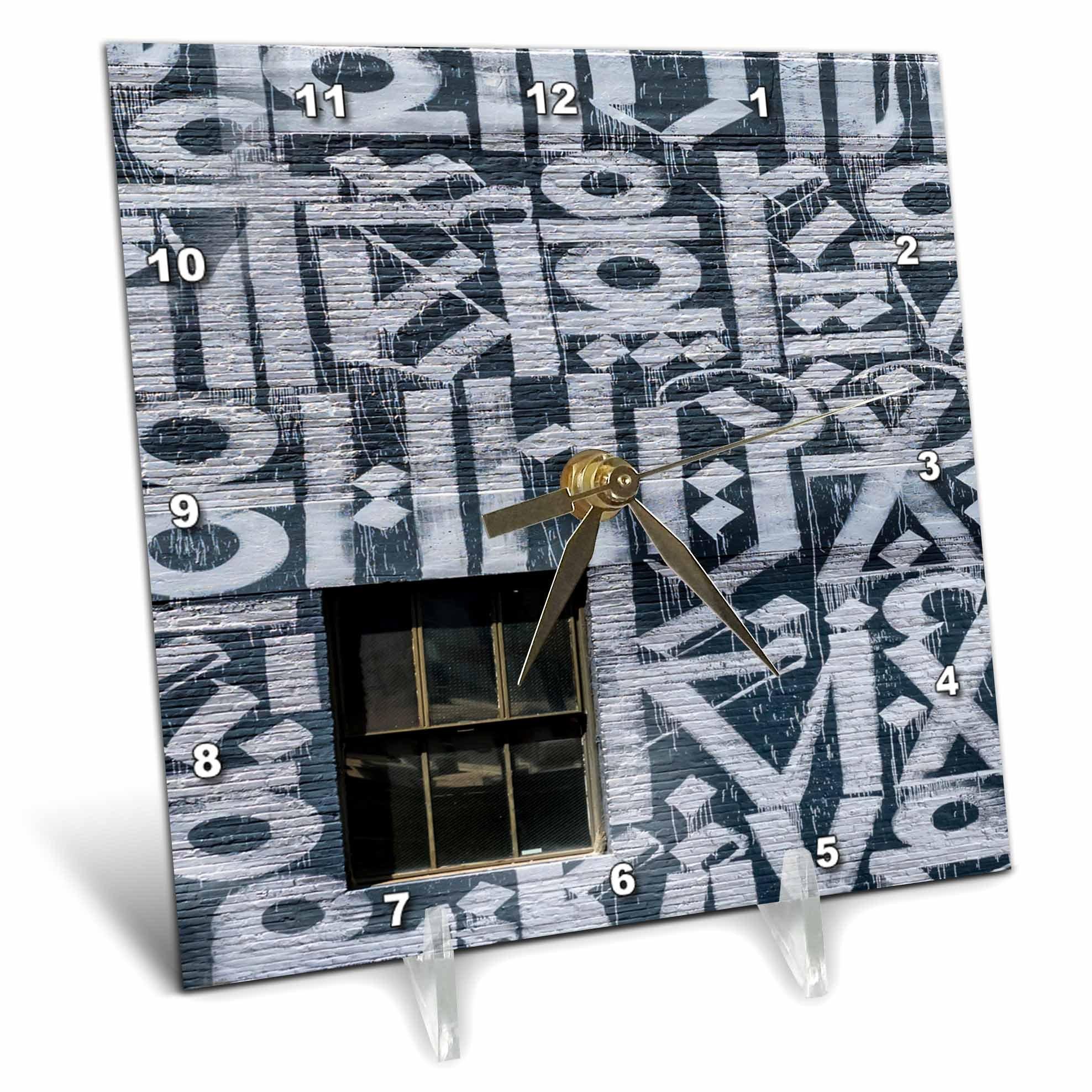 3dRose Roni Chastain Photography - Window - 6x6 Desk Clock (dc_264620_1)