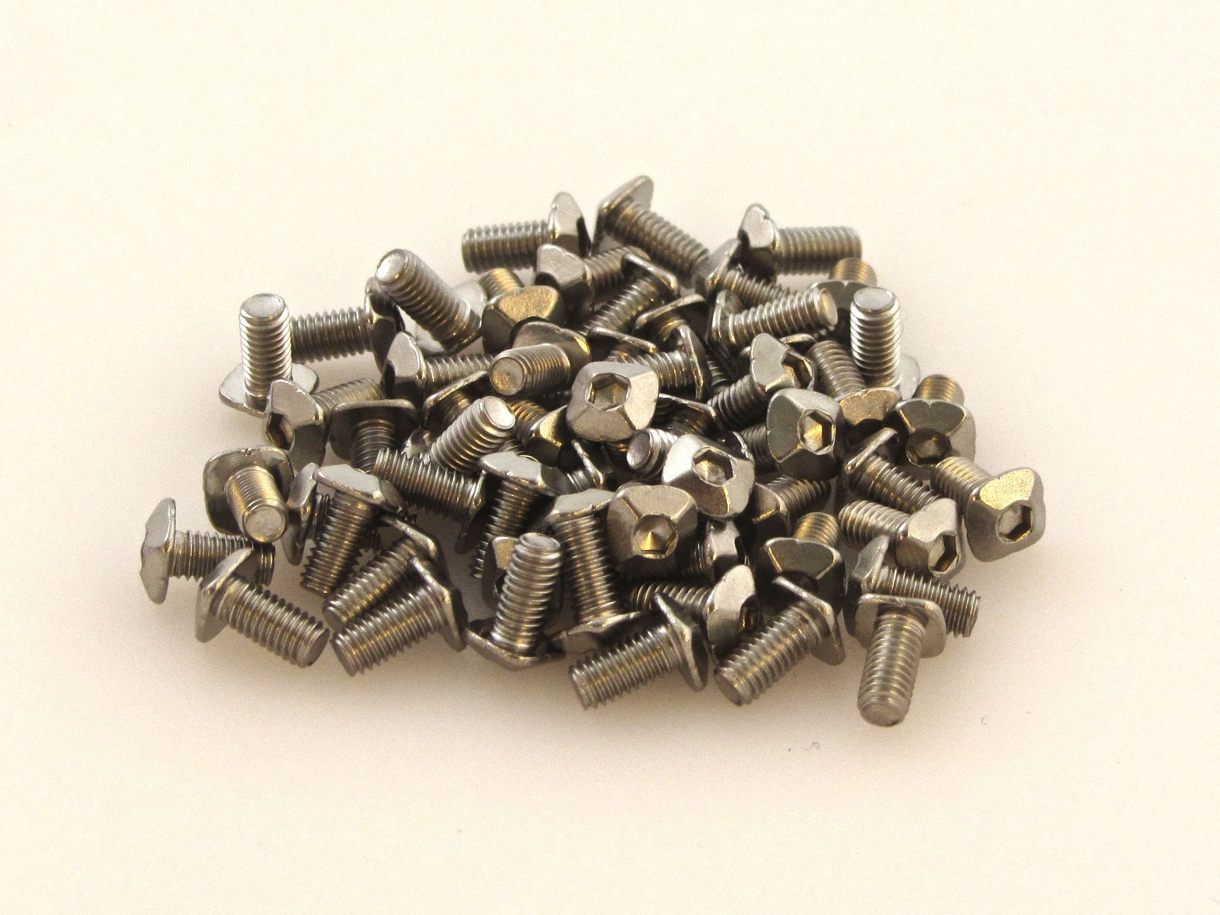 MakerBeam M3 bolts with square head, 6mm (pack of 250) designed for MakerBeam (10x10mm in diameter).