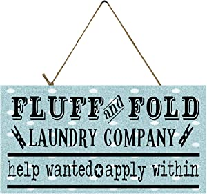 Twisted R Design Laundry Room Sign (Fluff & Fold)