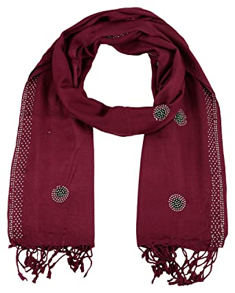 0a6329ebbeb87 PSS Premium Quality Handmade Maroon Color - Summer Scarf Soft Cotton Trendy  Scarves, Stoles,Scarf for Women and Girls: Amazon.in: Clothing & Accessories