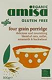 Amisa Organic Gluten Free Four Grain Porridge 300 g (Pack of 3)