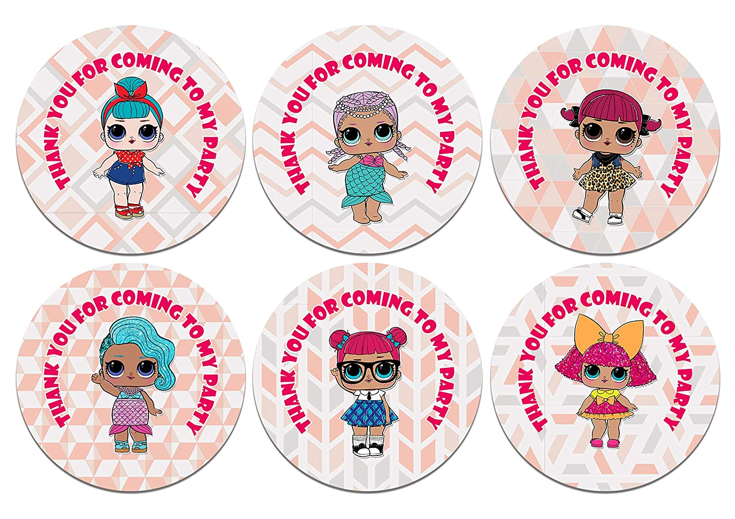 Get invited lol thank you for coming to my party stickers x 48 amazon co uk toys games
