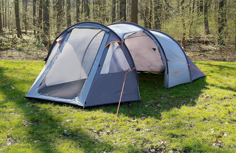 Tunnelzelt Familienzelt Firstzelt 2 - 3 Personen Gruppenzelt Zelt Camping mit Schmutz und Regenabweiser außen 2.000 mm Wassersäule NEU Dutch Mountains