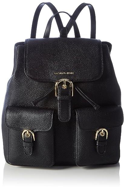 Michael Kors - Cooper Large Flap Backpack, Mochilas Mujer, Schwarz (Black),
