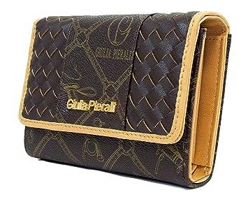 a8e4cd81da5ec Giulia Pieralli Damen Portemonnaie viel Platz für Kreditkarten  Reißverschluss + Clippverschluss Geldbörse Kunst Leder Geschenkbox G02