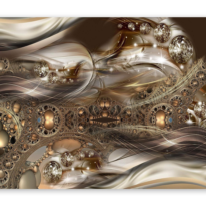 Murando - Fototapete 400x280 cm - Vlies Tapete - Moderne Wanddeko - Design Tapete - Wandtapete - Wand Dekoration - Abstrakt Gold a-A-0084-a-d B0171RH8QS Wandtattoos & Wandbilder
