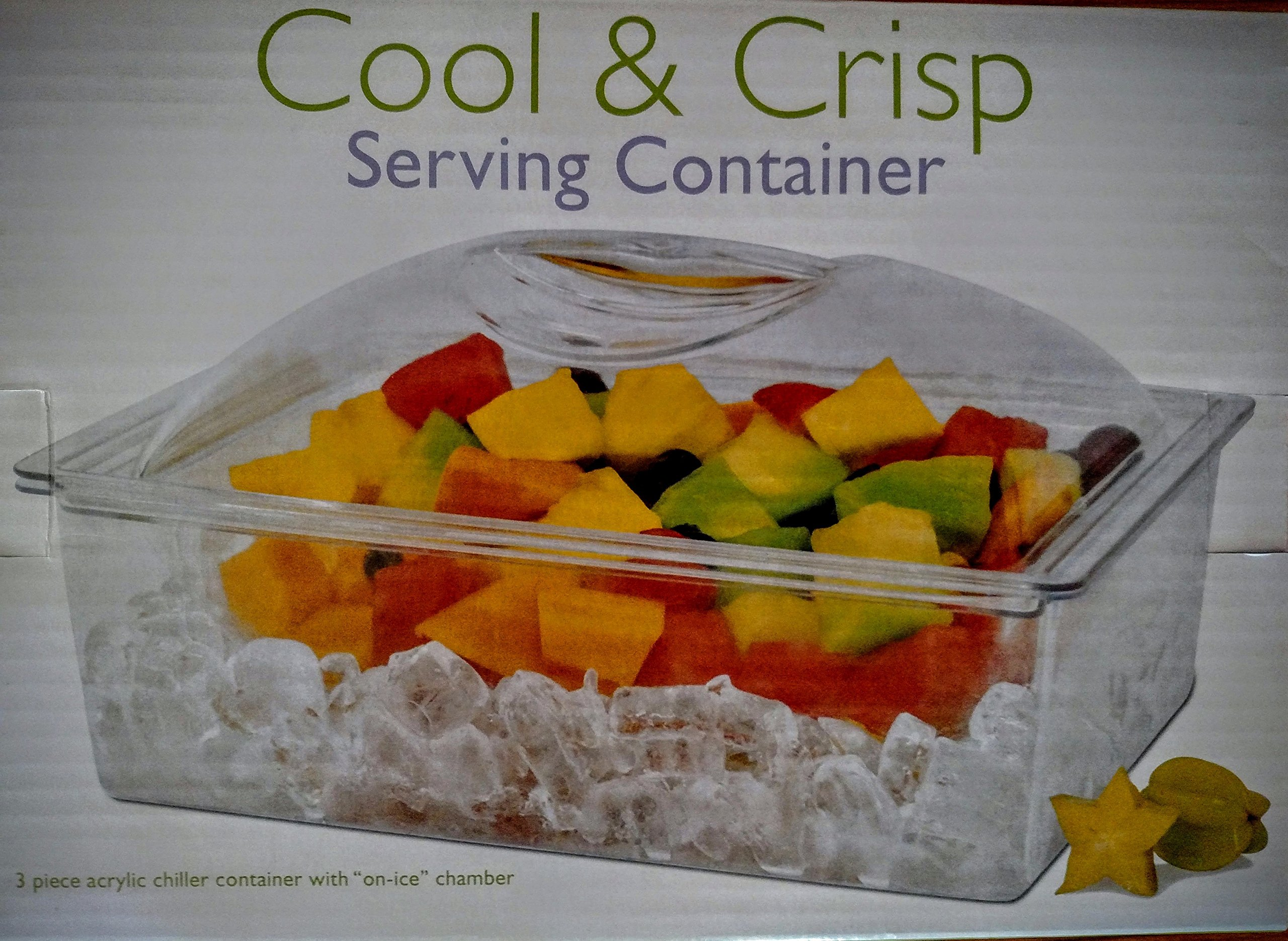 Cool and Crisp Acrylic Serving Container 6 quart/with ice compartment