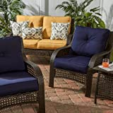 Greendale Home Fashions Outdoor Sunbrella Deep Seat Chair Cushion Set, Navy