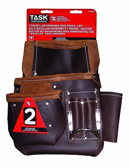 Task Tools T77307 Leather Master Carpenters Tool Bag, Left ...