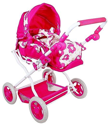 höhenverstellbar Puppen & Zubehör Babypuppen & Zubehör Amia Puppenwagen mit Tasche